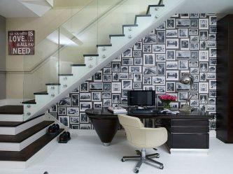 Blanco y negro colores para hacer una oficina única