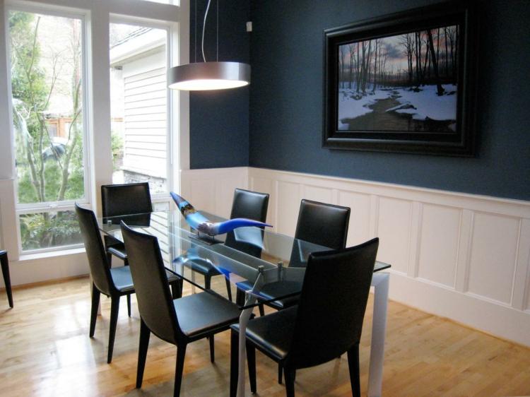 Color azul en las paredes de interior  cincuenta diseos