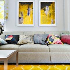 Sofa Modernos 2017 Triple Reclining Fabric Color Amarillo : 27 Ideas De Accentos Para Salones