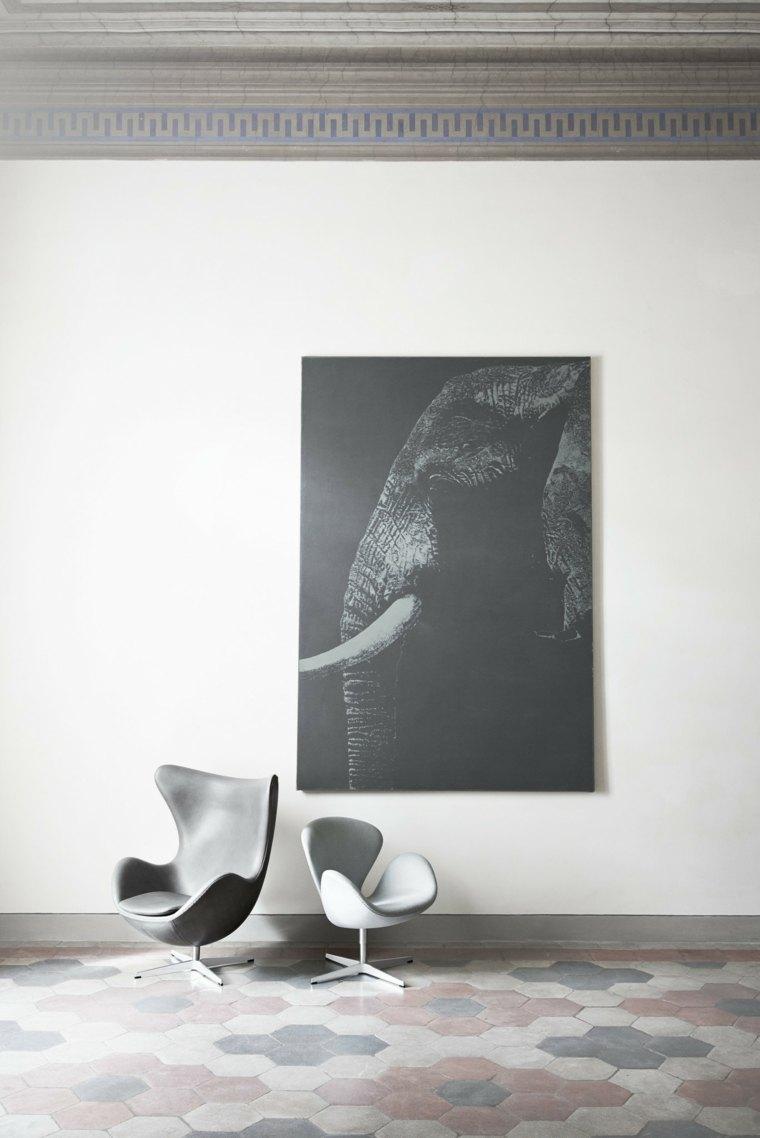 Iconos del diseo de muebles silla Egg por Arne Jacobsen