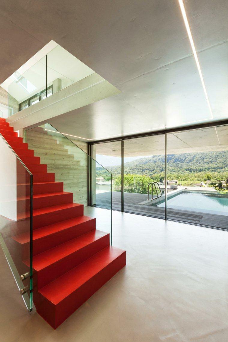 Escaleras de interior 74 diseos coloridos