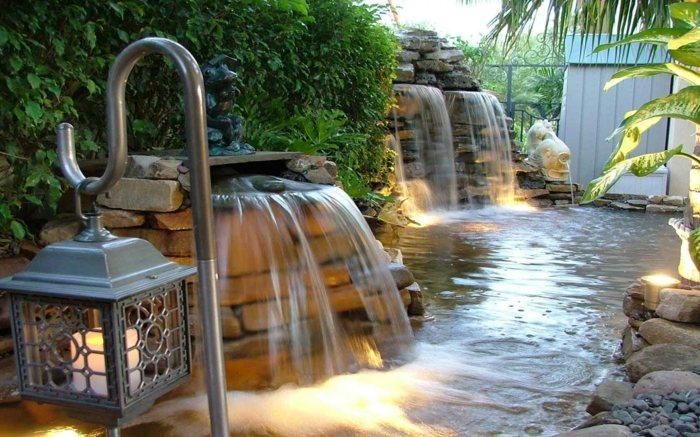 El agua en los diseos de estanques para interiores y exterior