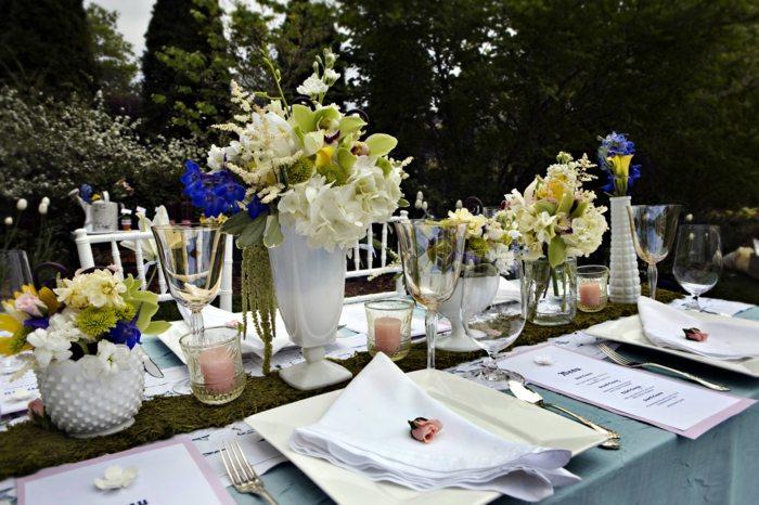 Mesa dulce decoracin para la poca de primavera