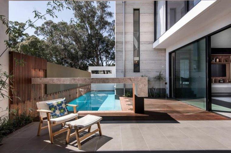 Muebles el paraiso moderno en la terraza o el balcn