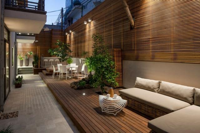 iluminacion moderna pared bombillas ideas exterior