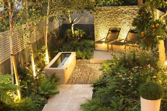 iluminacion moderna pared palntas ideas exterior