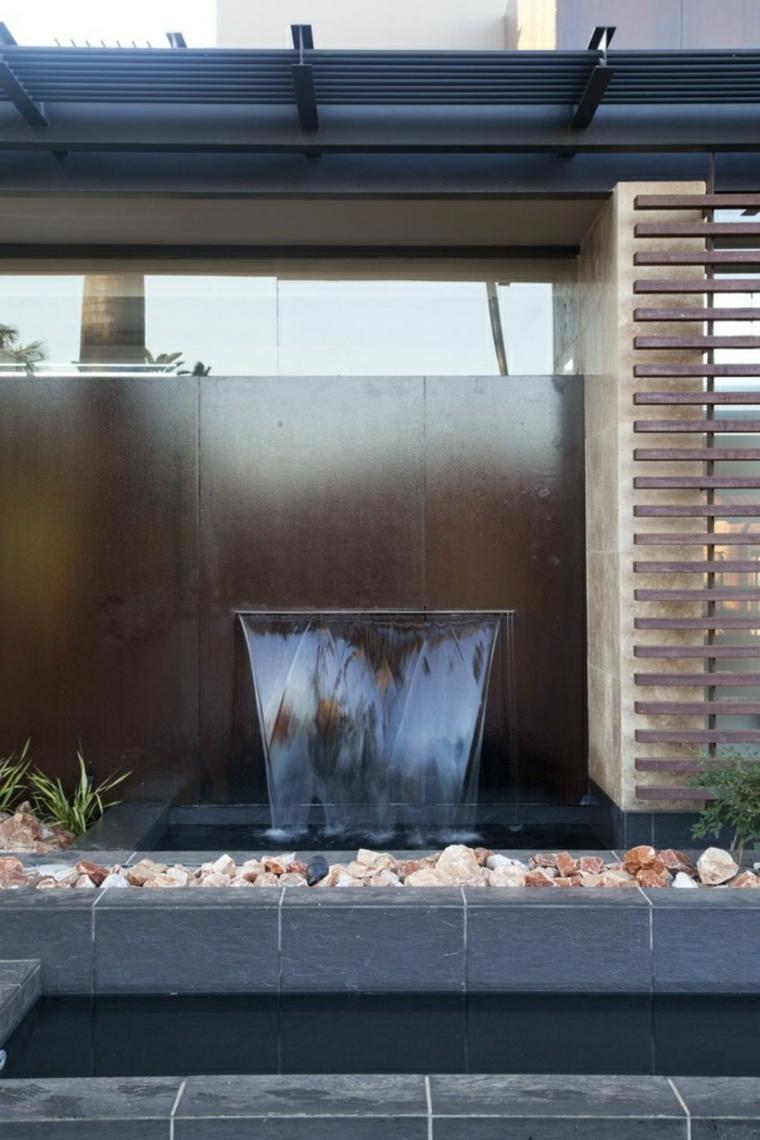 Cascadas y fuentes de jardn modernas  42 ideas estupendas