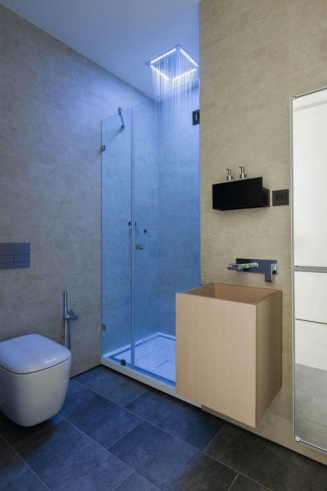 bano diseno moderno iluminacion original ducha iluminada ideas