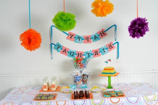 decoración moderna fiesta cumple