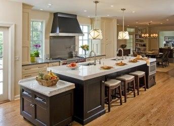 Decoración de cocinas americanas con diseño vistoso