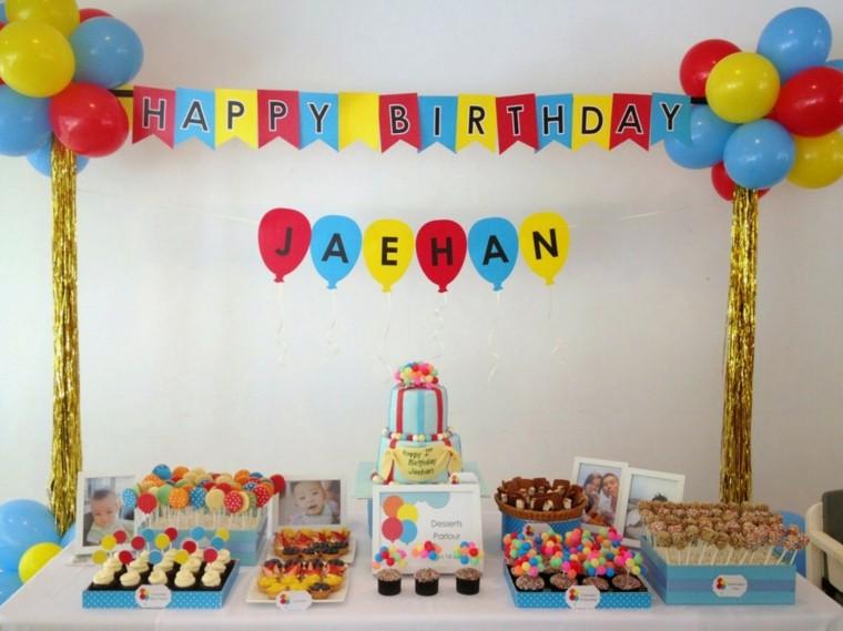 decoracion mesa fiesta cumpleaños