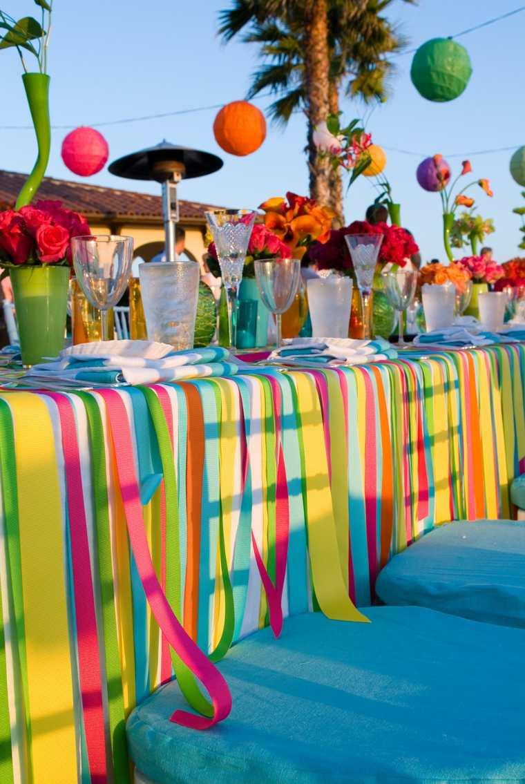 Fiestas al aire libre opciones de decoraciones y detalles