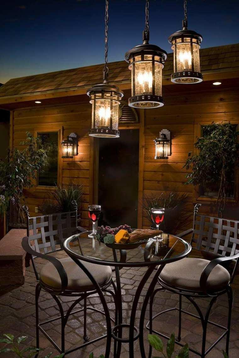 iluminacin farolas y linternas para el jardn moderno