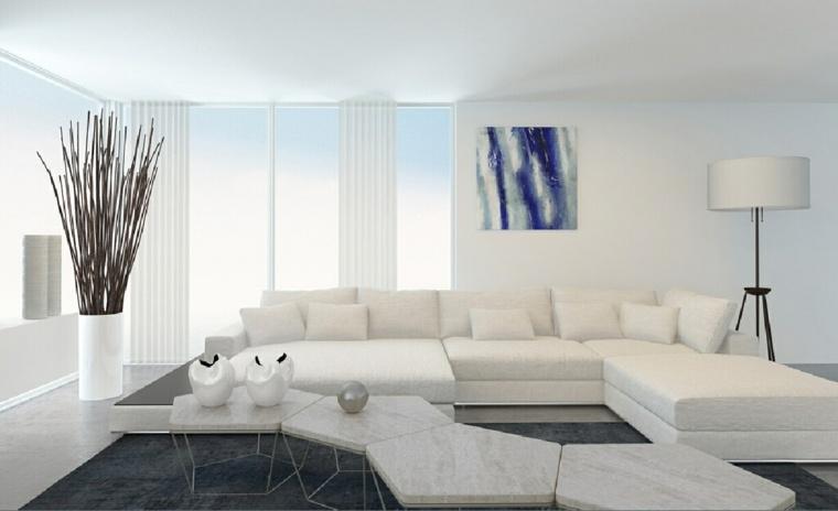 Salones en blanco  descubra los 100 interiores ms modernos