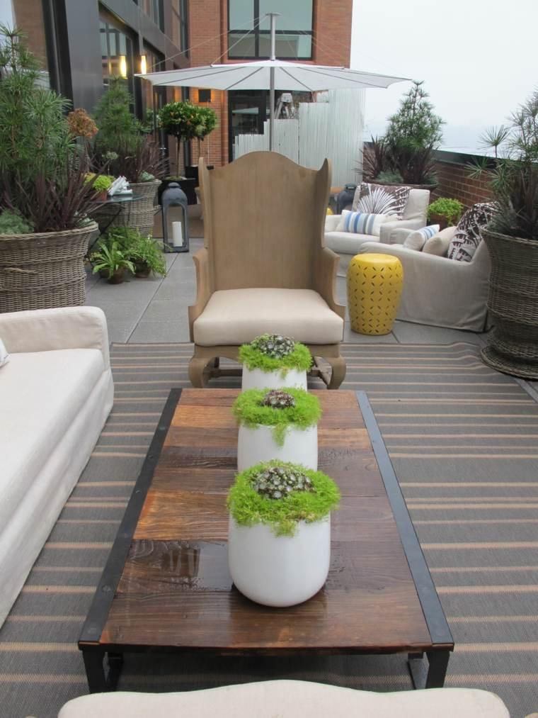 Decoracin romntica y moderna para jardn y terraza