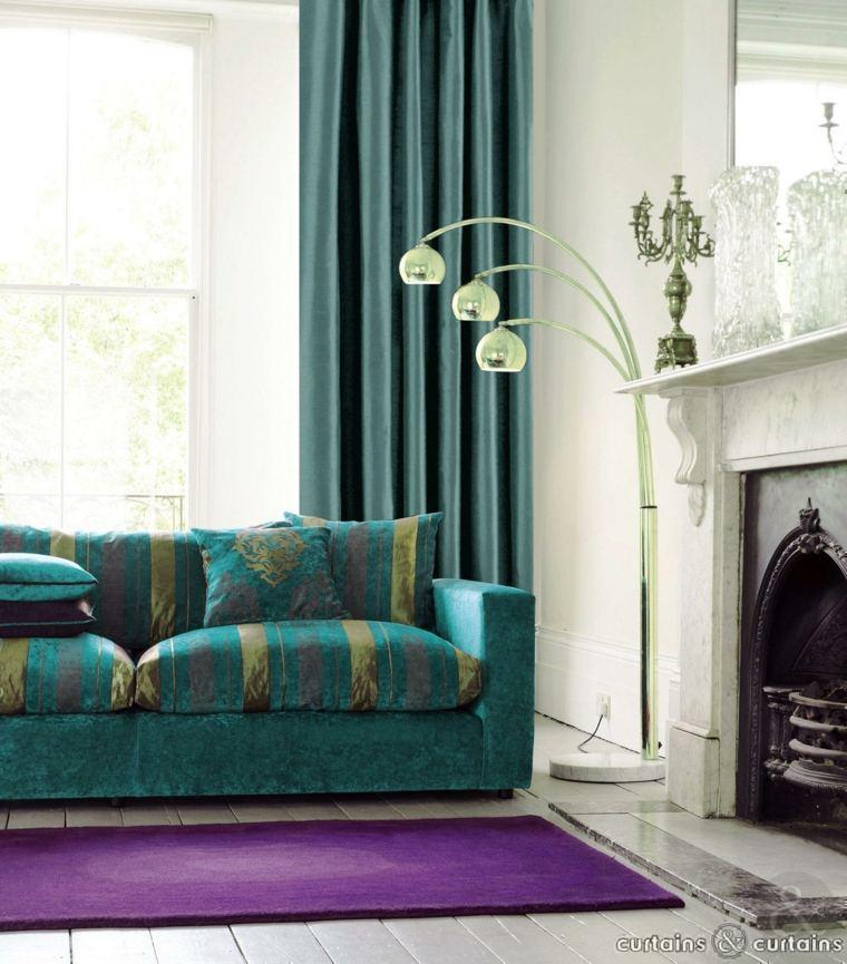 green living room walls idea to decorate cortinas modernas para salon - 24 diseños originales