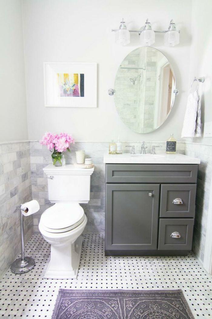 Muebles para baos pequeos y consejos para ahorrar espacio