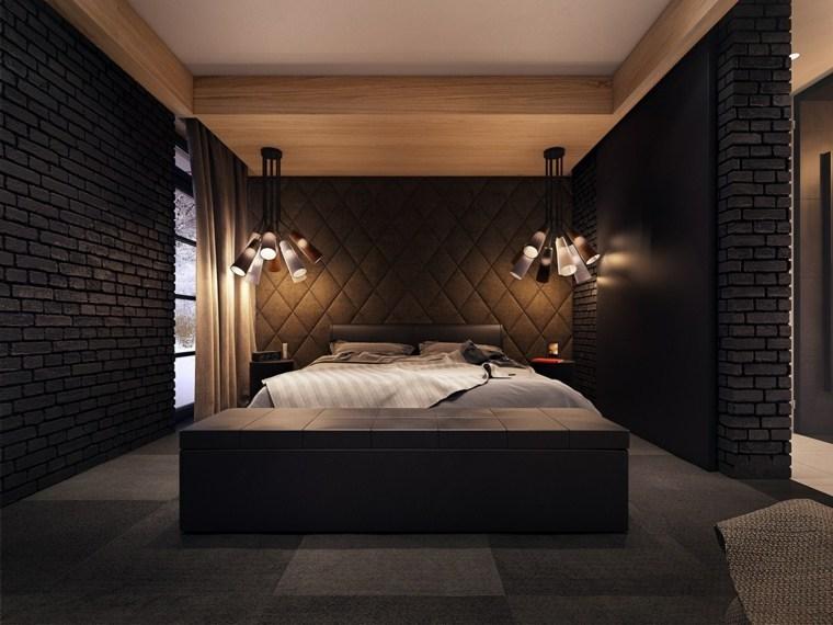 Dormitorios Modernos En Negro Llenos De Luz