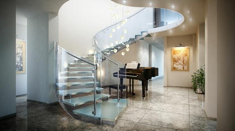 Escaleras interiores inspiradas en la modernidad