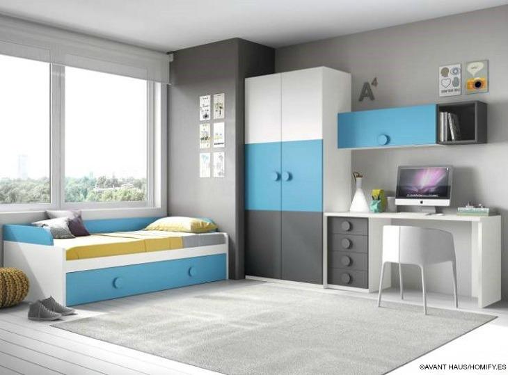 Habitaciones juveniles  detalles imprescindibles para