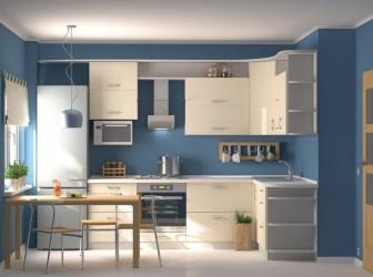 cocinas barra azul blanco cocina nuestro hogar pequenas