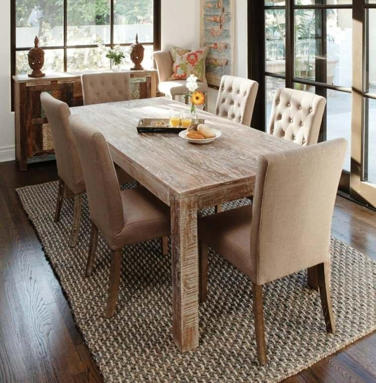 Mesas de madera  un acento rstico para el comedor