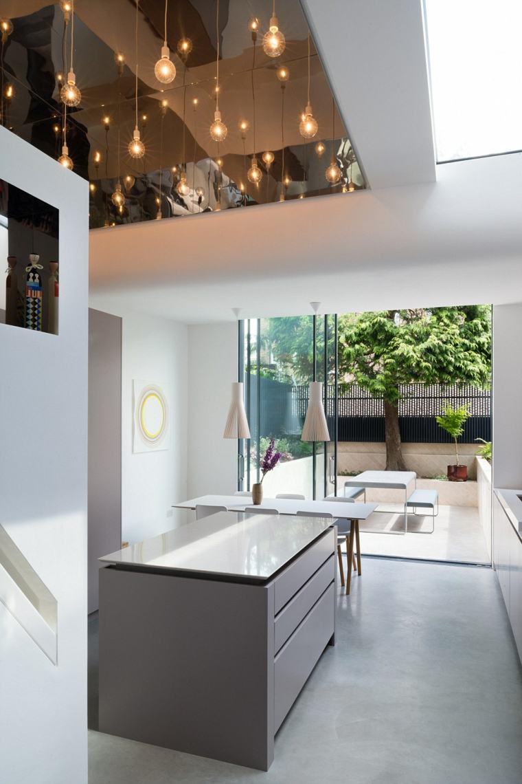 Casas de cristal para interiores luminosos