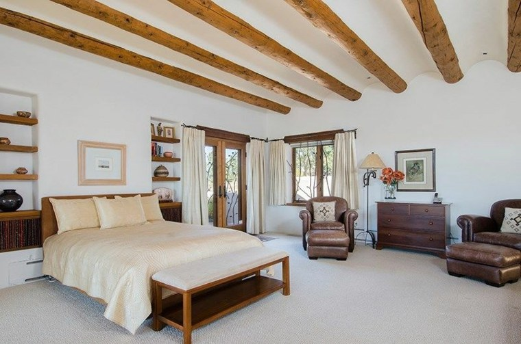 Dormitorios rsticos con belleza genuina