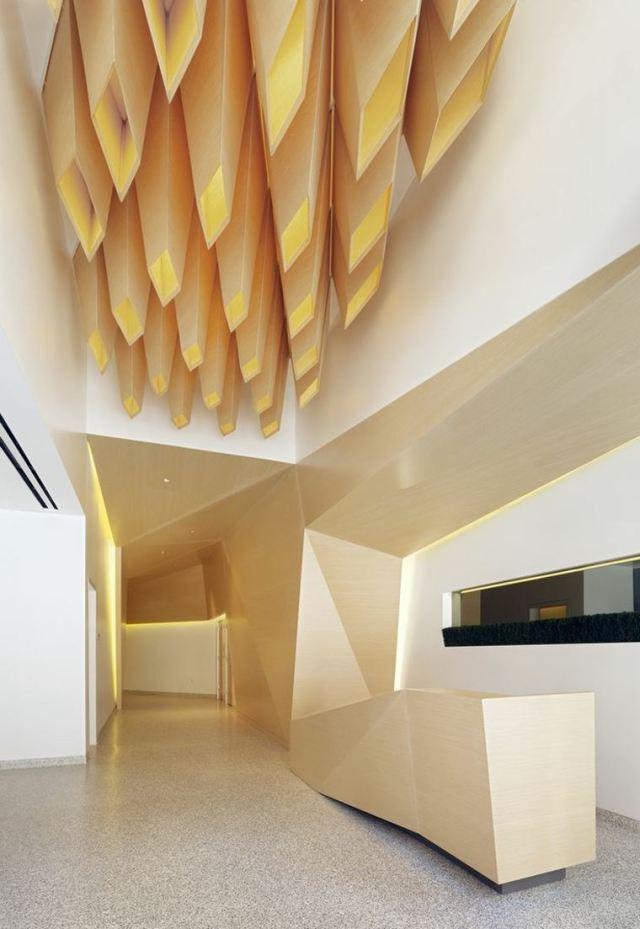tavan dekorasyon fikirleri çekici tasarım modern ahşap