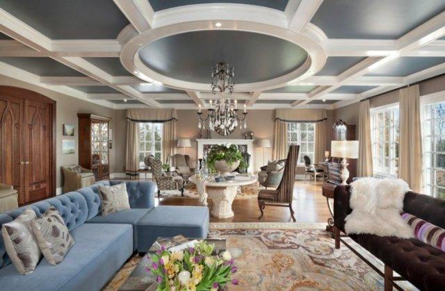 tavan tasarımı renk kombinasyonu fikirleri dekore etmek için fikirler