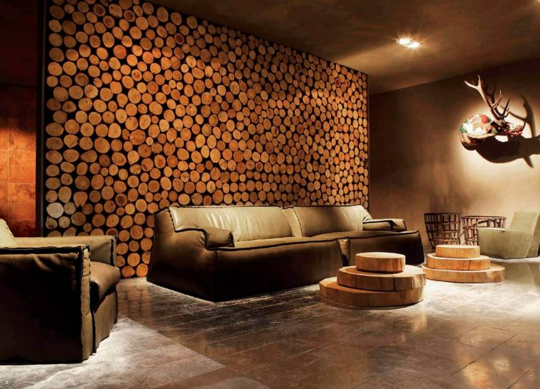 Muebles de madera para un diseo muy natural