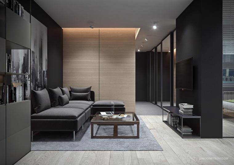 Interiores de apartamentos pequeos con temas variados