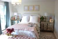 Color rosa en combinacin con dorado para el dormitorio