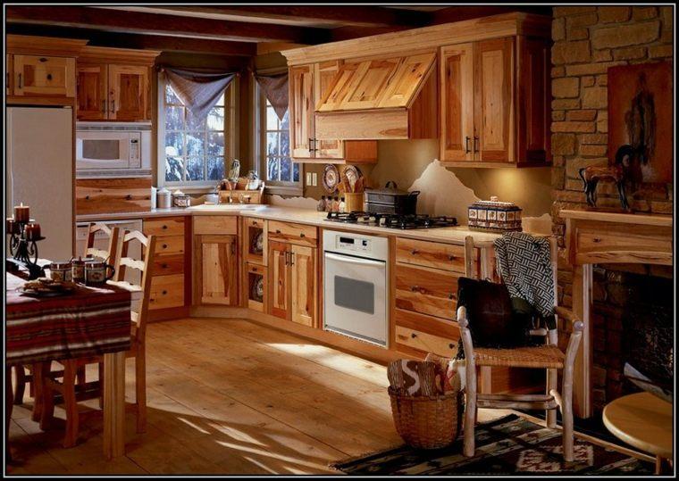 Cocinas rurales el uso de la madera y la piedra para