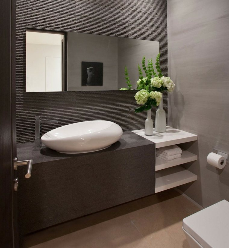 Encimeras de bao para decorar y aumentar la modernidad