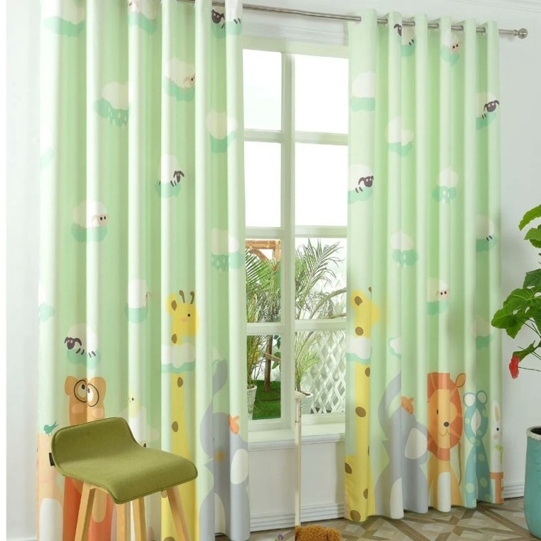 Diseos de cortinas para nios  modelos coloridos y vibrantes