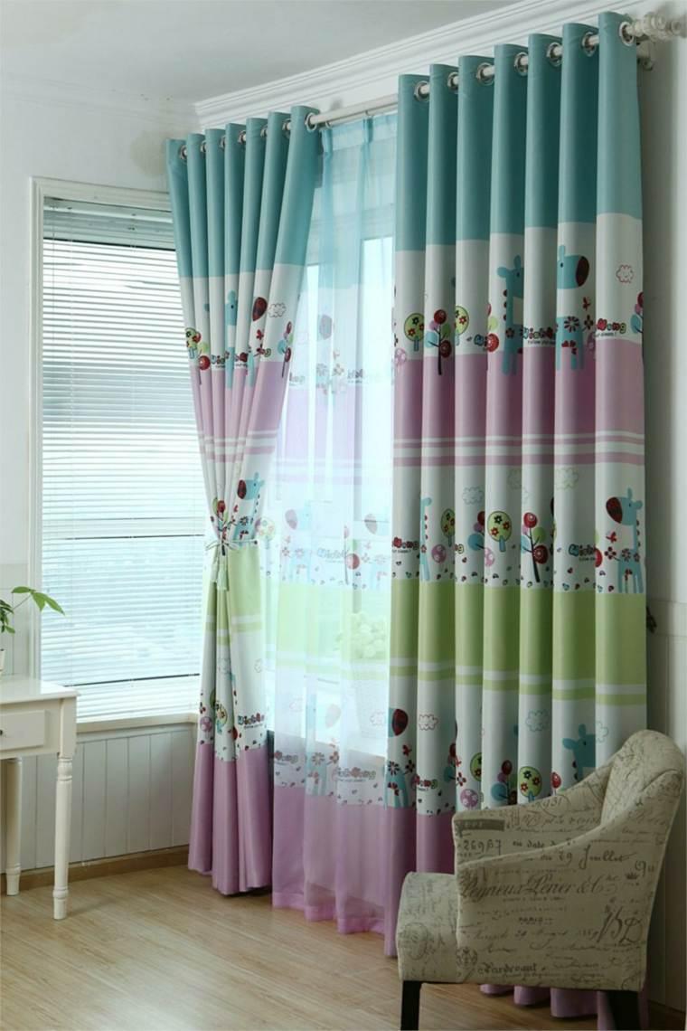Diseos de cortinas para nios  modelos coloridos y