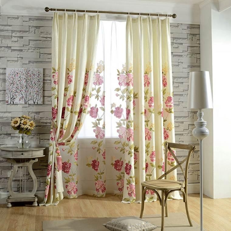 Cortinas para ventanas oscilobatientes para decorar el interior