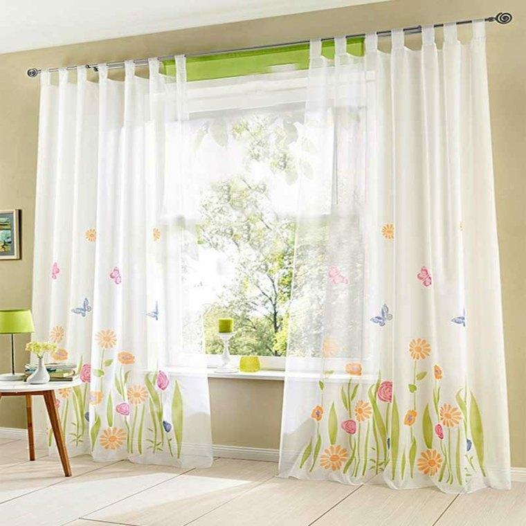 Cortinas para ventanas oscilobatientes para decorar el