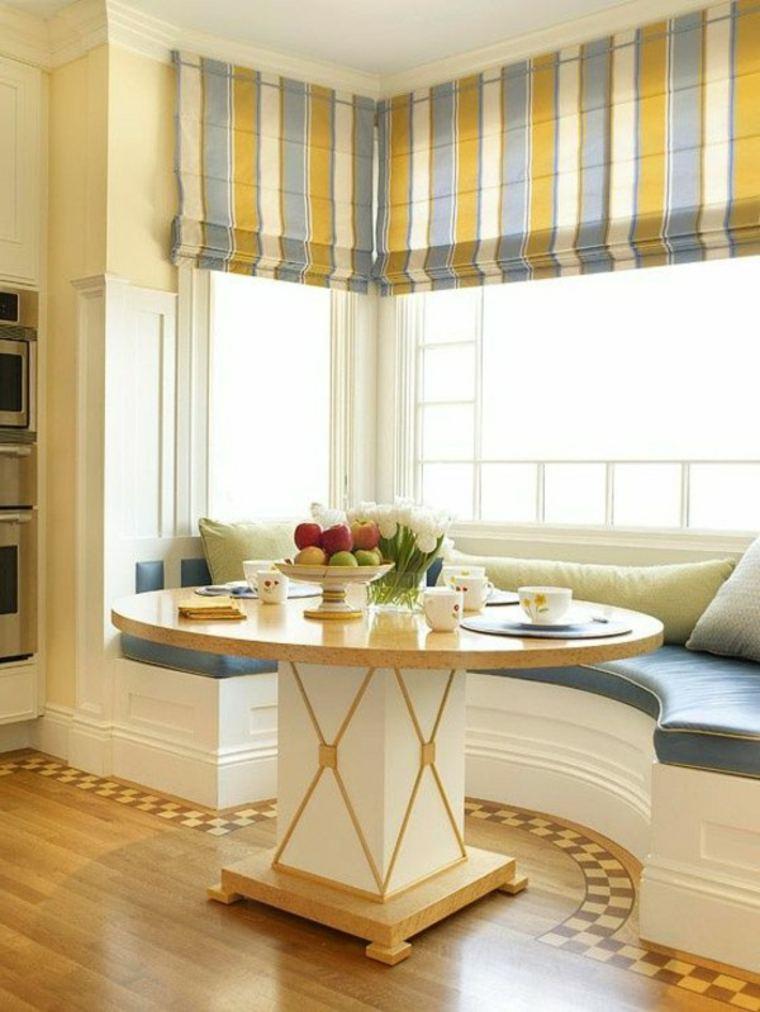Cortinas para ventanas abatibles  diseos funcionales y