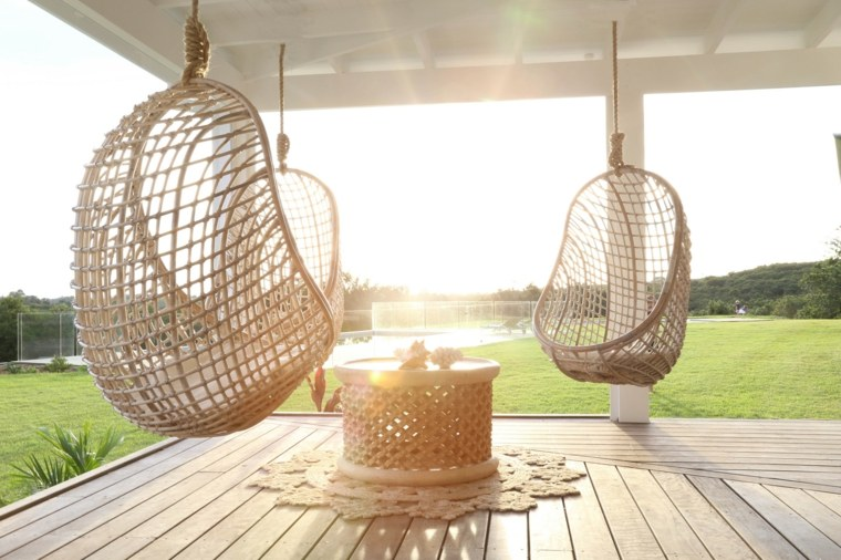 hanging chair no stand cheap and a half balancines y hamacas para terrazas - 34 ideas impresionantes