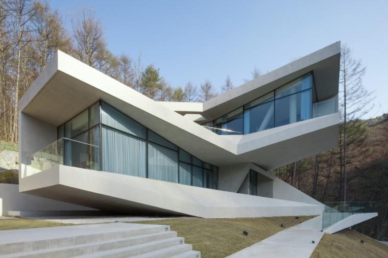 Arquitectura moderna en Hongcheon Corea del Sur