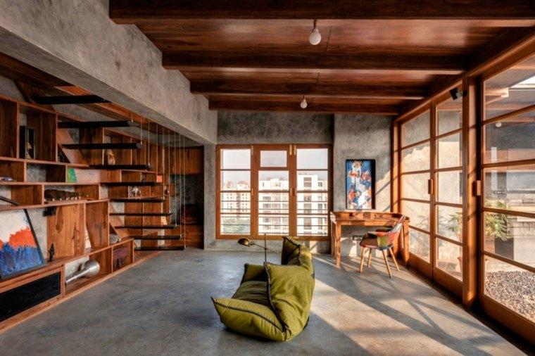 african living room designs pop ceiling for indian casa de madera y cemento en india, diseñada por studio ...