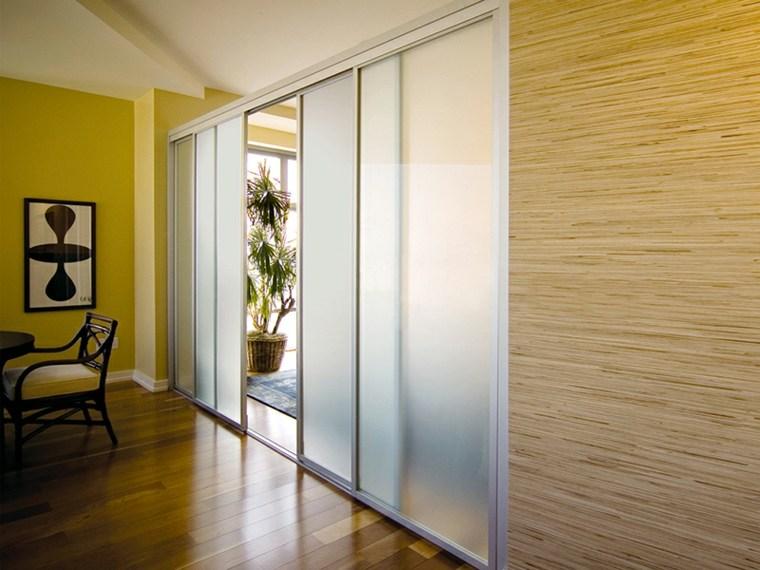 Puertas correderas de cristal para interiores con clase