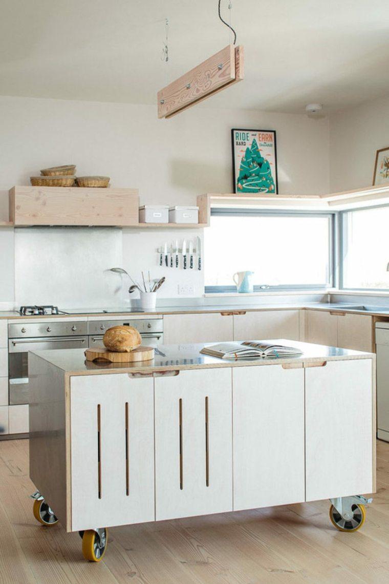 Islas para cocina mviles unos diseos muy modernos