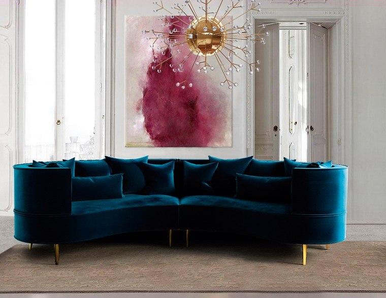 sofa modernos 2017 best leather sofas brands redondos el complemento perfecto para salon margret ottiu terciopelo diseno ideas