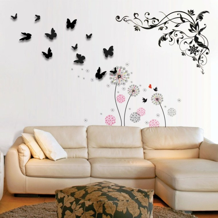 Decoracion de paredes de salon moderno y elegante