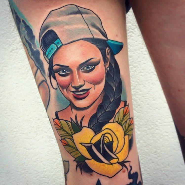 Tatuajes Originales Diseño Neo Tradicional Con Detalles Modernos