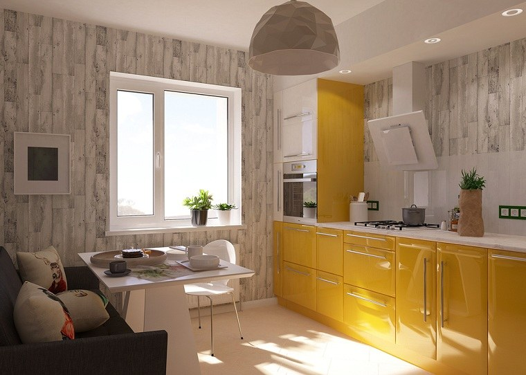 Color amarillo en la cocina  Ideas y consejos para