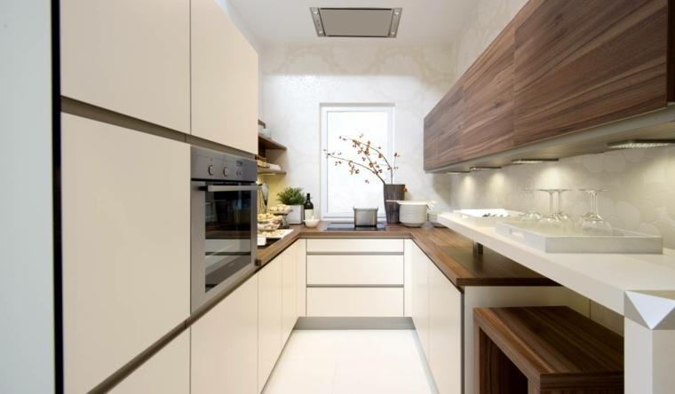 Cocinas alargadas  Ideas para aprovechar su espacios